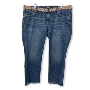 Old Navy Jean Capris Embroidered Waist Blue 18